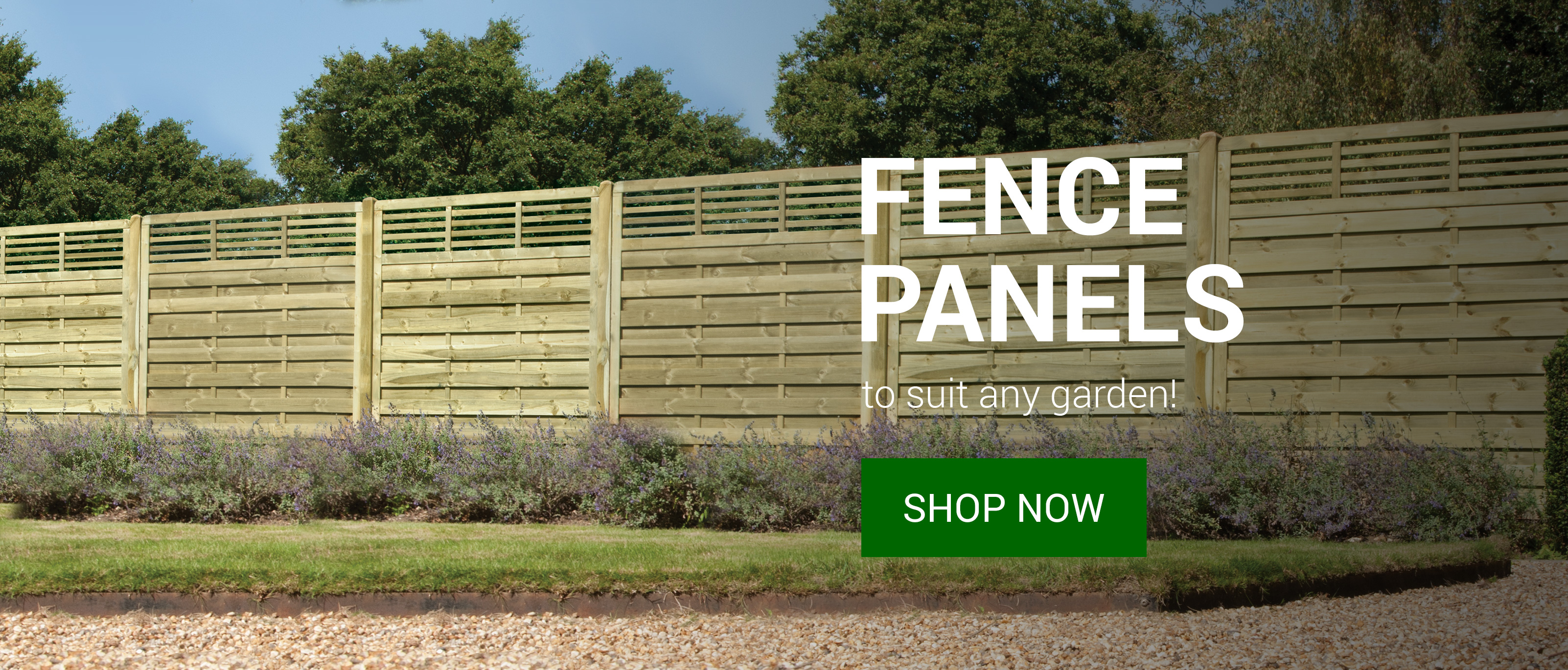 Fence panels to suit any garden!