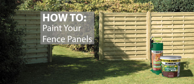 How to Paint Your Fence Panels