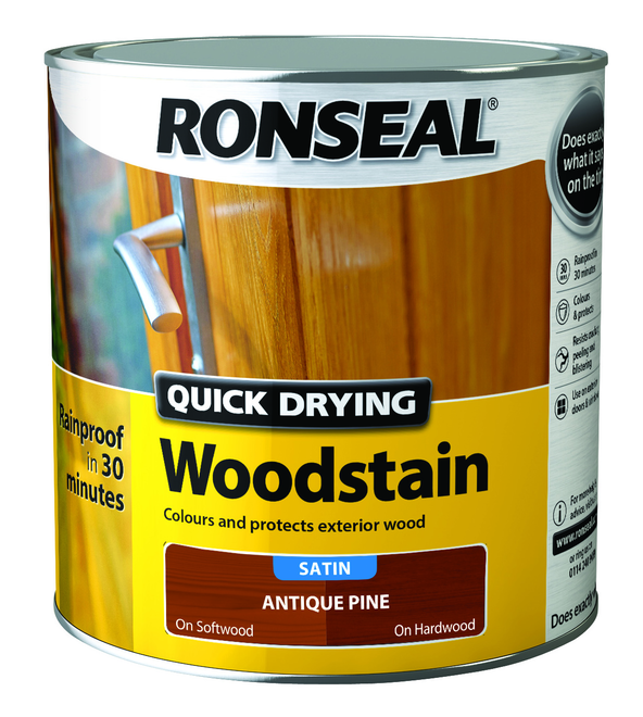 RONSEAL QUICK DRYING WOODSTAIN 2.5L ANTIQUE PINE