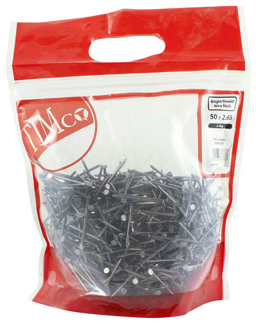 0.5Kg Bright Round Wire Nails
