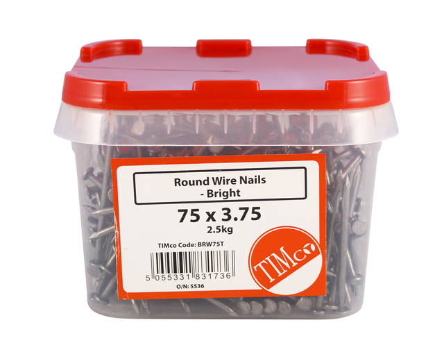 2.5Kg Bright Round Wire Nails