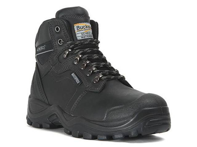 Safety Lace Boot Black