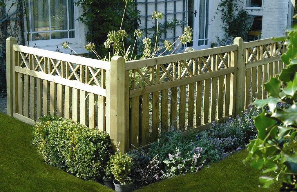 Elite cross top fence panel north west timber treatments