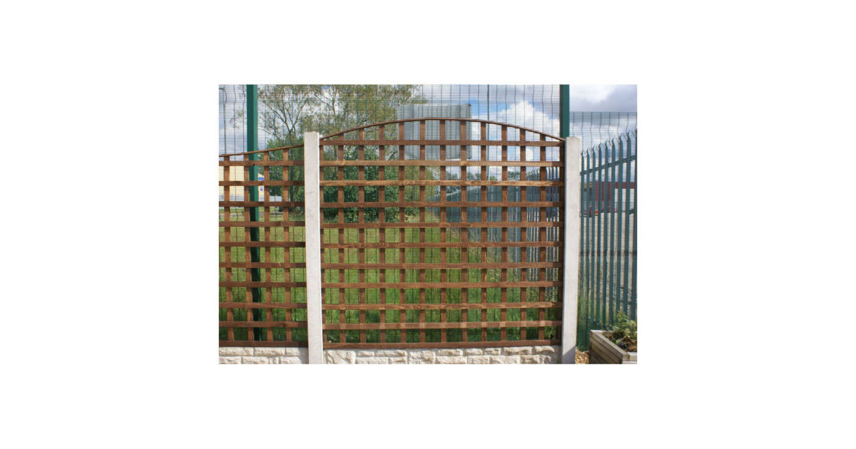 Round Top Square Trellis Panel North West Timber
