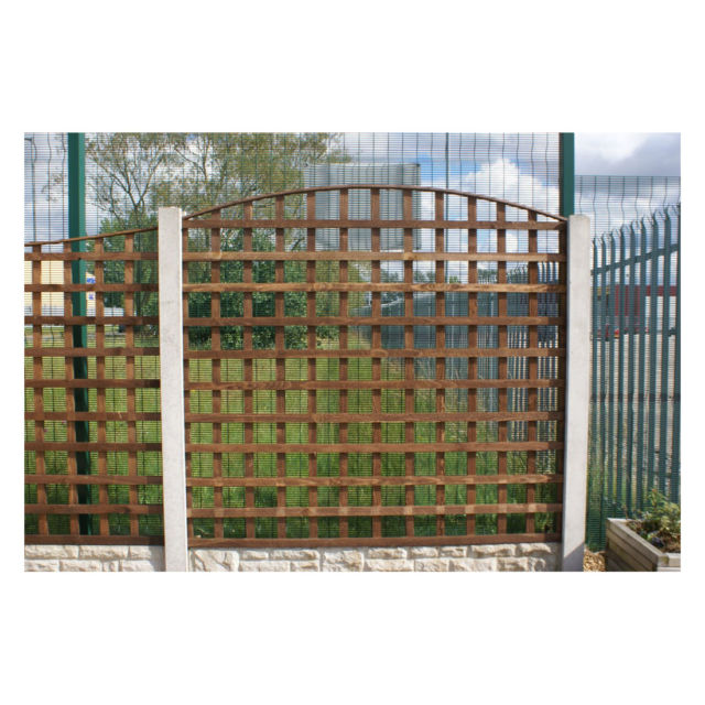 Round Top Square Trellis Panel