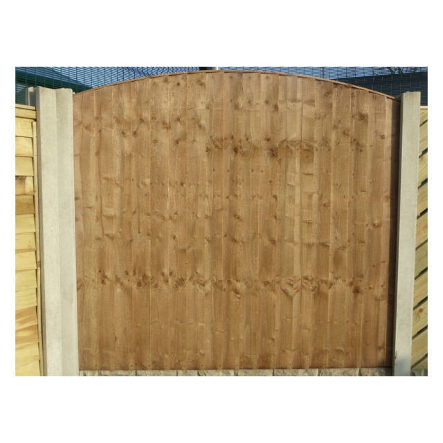 Heavy Duty Round Top Vertical Weatherboard Fence Panel