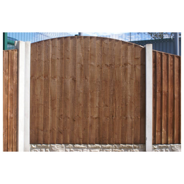 "Economy Round Top Vertical Weatherboard ""BETA"" Fence Panel"