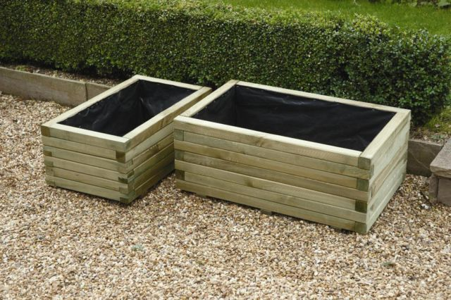 Rectangle Planter Set