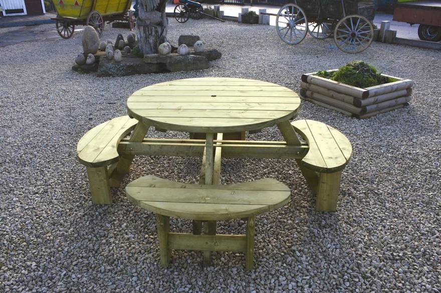 Round Table and Bench Seat RBS