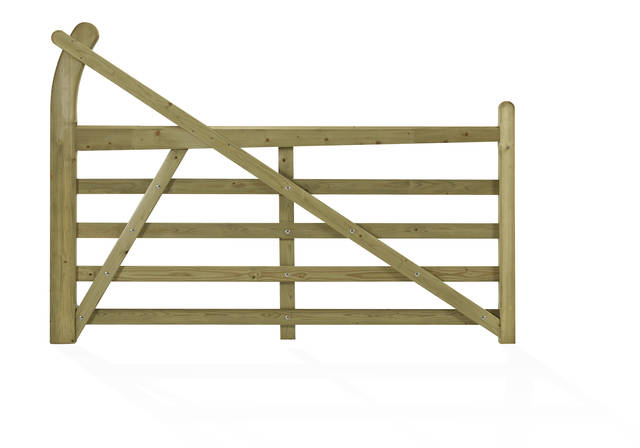 Hardwood 5 Bar Hook Field Gate