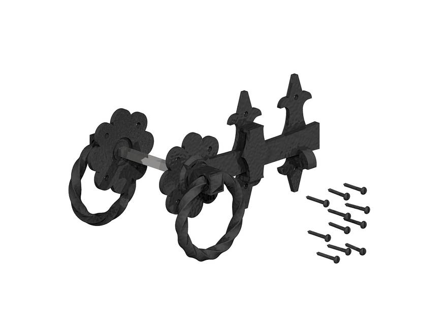 Ornamental Ring Gate Latch