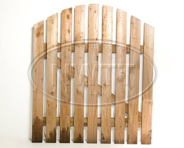 Round Top Picket Gate - Ledged and Braced