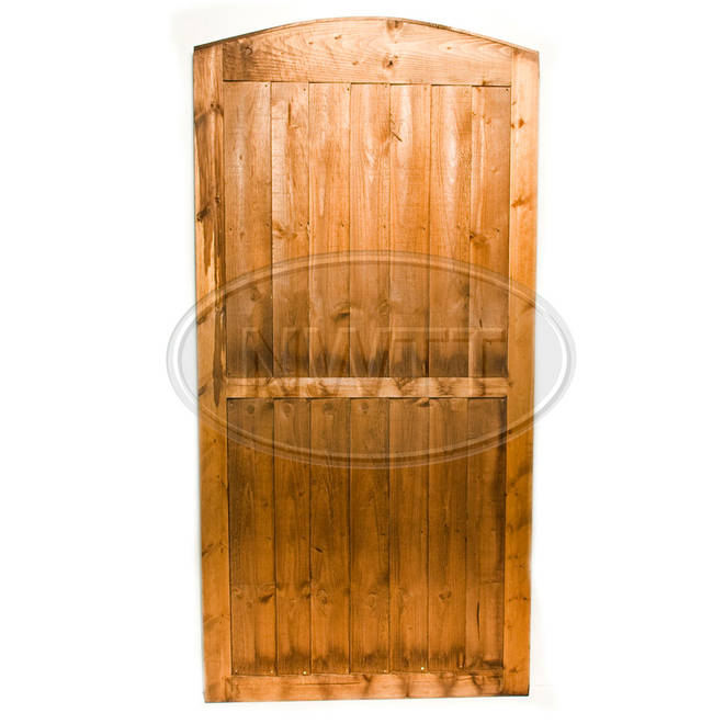 Round Top Vertical Weatherboard Gate