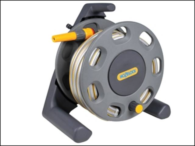 30m Freestanding Compact Hose Reel + 25 Metres of 12.5mm Hose