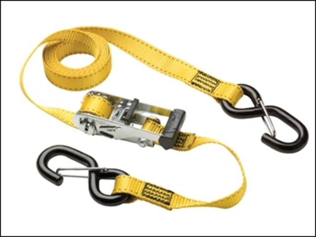 Ratchet Tie-Down S Hooks 3m 2 Piece