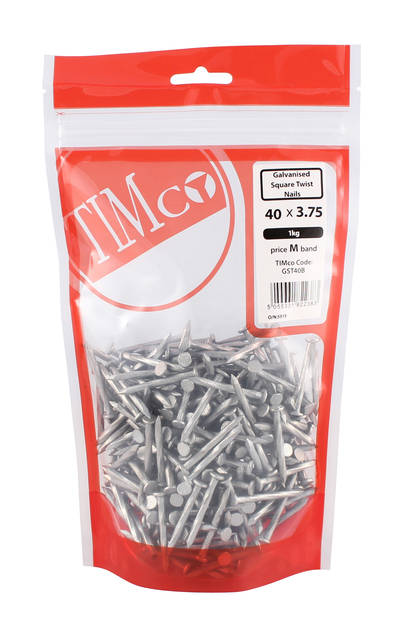 0.5Kg Galvanised Square Twist Nails