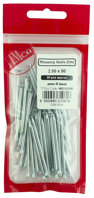 Masonary Nails Zinc (100qty)