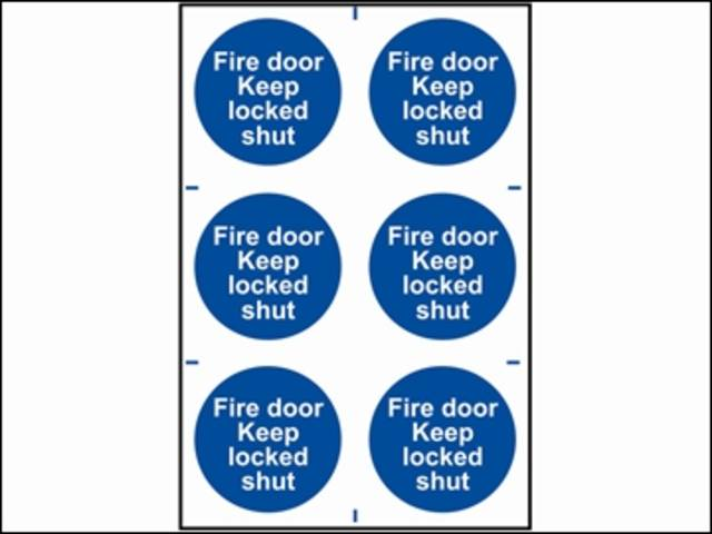 Fire Door Keep Locked Shut - PVC