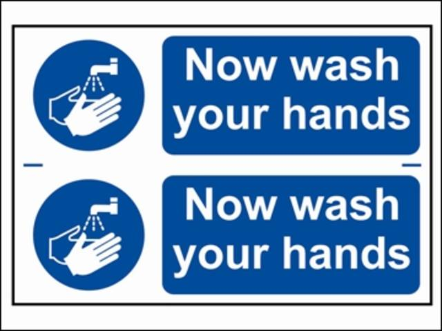Now Wash Your Hands - PVC