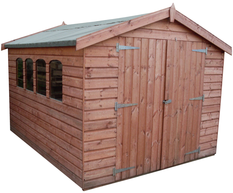 Apex Shed (Double Doors) (SH4X4AT)