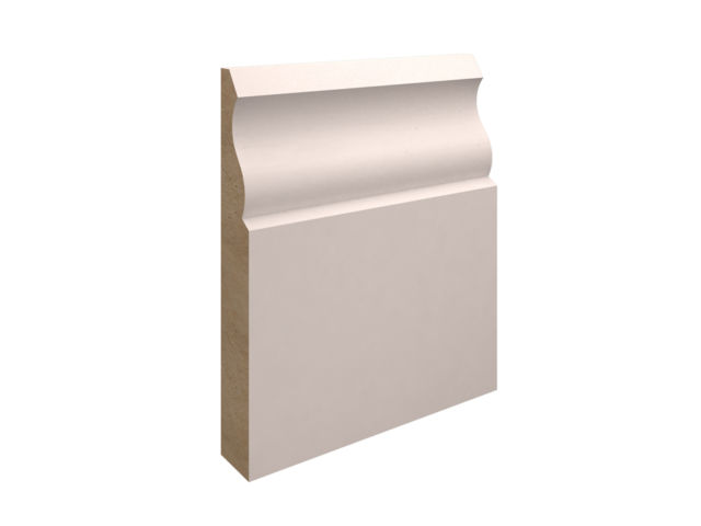 EX 125mm X 25mm MDF Ogee Skirting