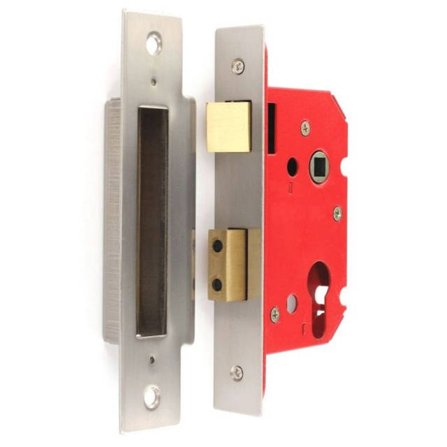 Euro Mortice Lock - Nickel Plated