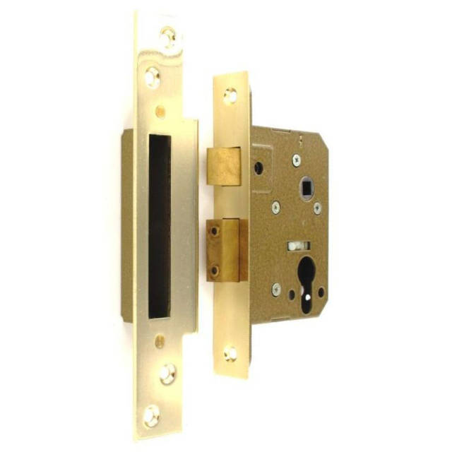 Euro Mortice Lock - Brass Plated