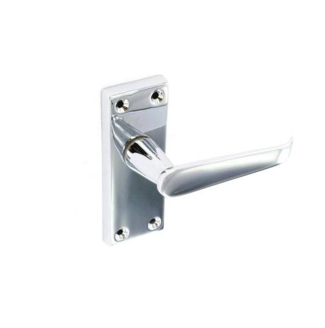 Flat Latch Handle - Chrome Plated